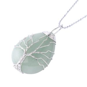 pendentif collier pierre aventurine verte