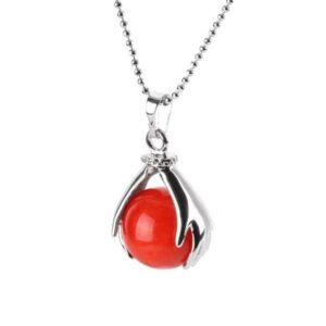 Collier Réussite Perle de Jaspe Rouge
