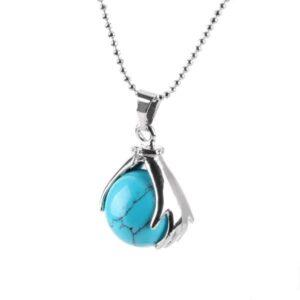 Collier Optimisme Perle Turquoise