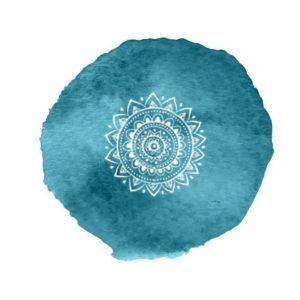 couleur bleue pour le chakras gorge