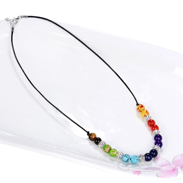 collier 7 chakras en pierre naturelle