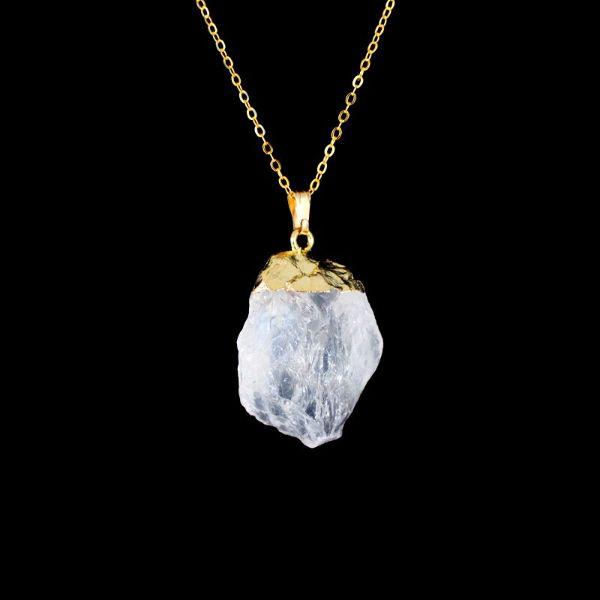 pendentif de quartz brute