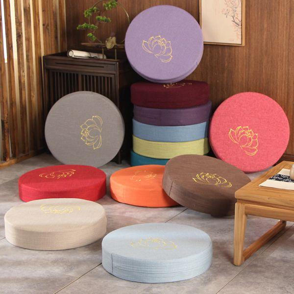 coussin de meditation coloré