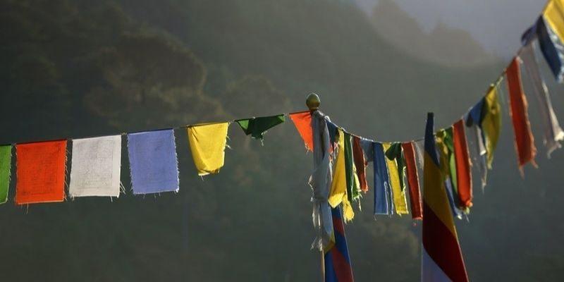 Les couleurs au Tibet on une signification très importante