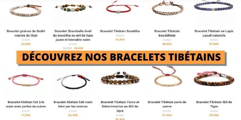voir notre collection de bracelet tibétain