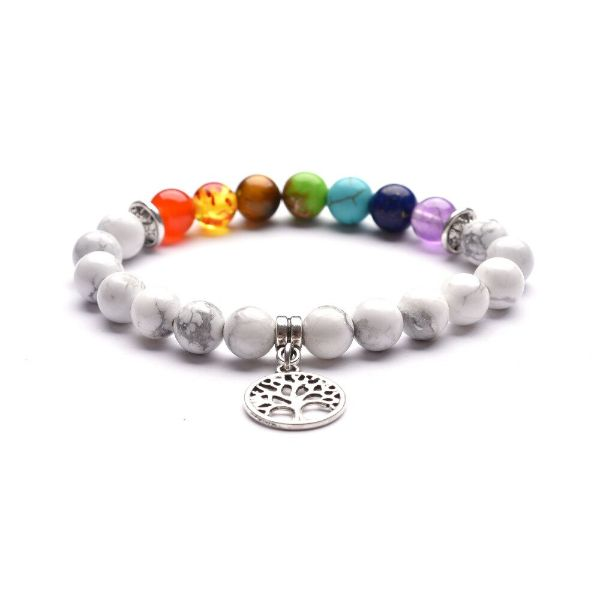 bracelet 7 chakras et arbre de vie