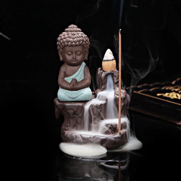 statue porte encens bouddha
