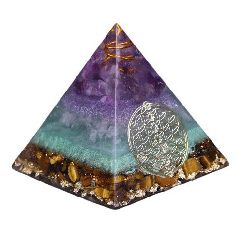 pyramide orgonite fleur de vie