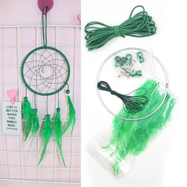 kit de fabrication vert pour attrape reve de chance