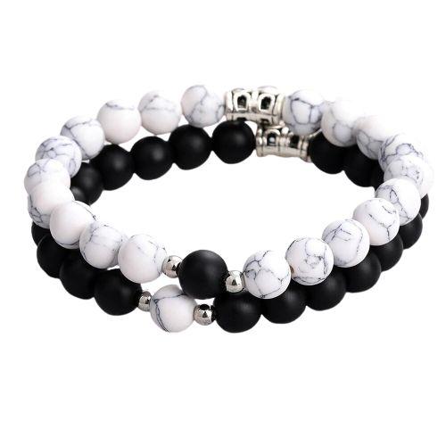 bracelet magnetique couple amour