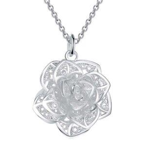 Collier Pureté pendentif Fleur de Lotus