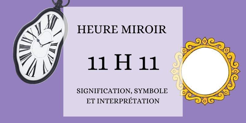 heure miroir 11h11