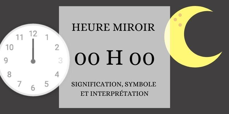 l'heure miroir 00h00