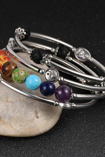 bracelet multispirale 7 chakras