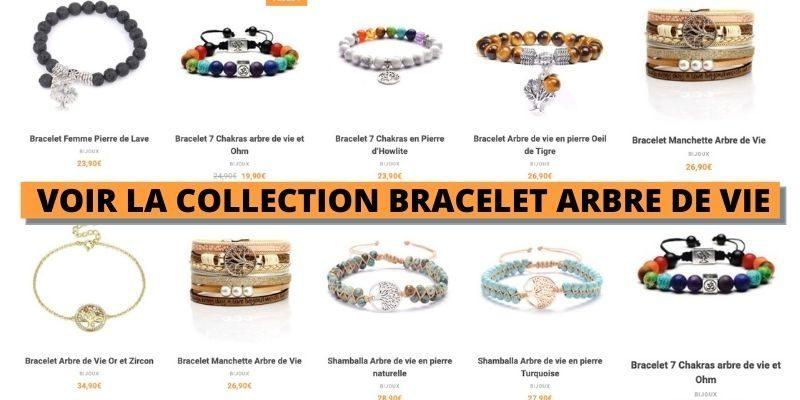 voir la collection de bracelet arbre de vie