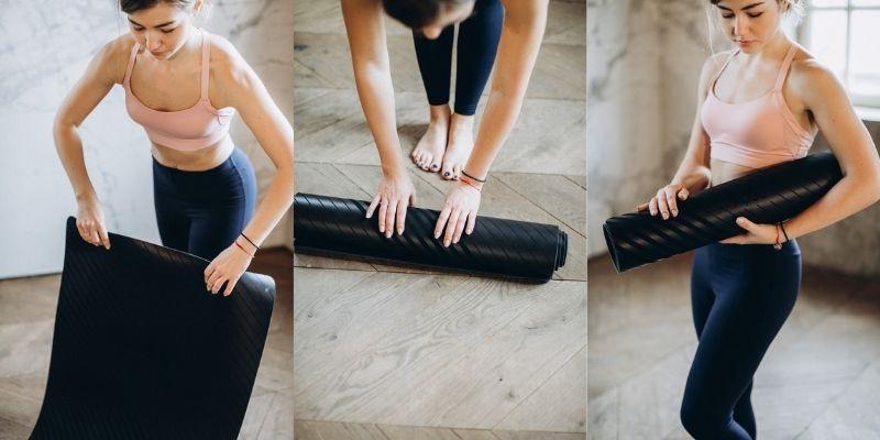 rangement du tapis de yoga