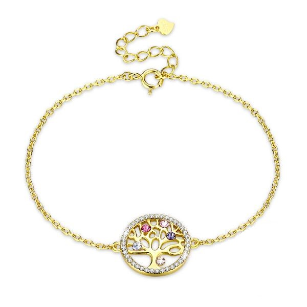 bracelet or jaune arbre de vie