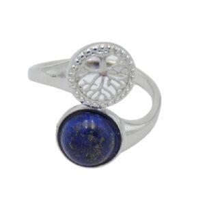 Bague Lapis Lazuli et Arbre de Vie