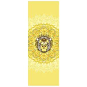 tapis de yoga jaune signe Lion