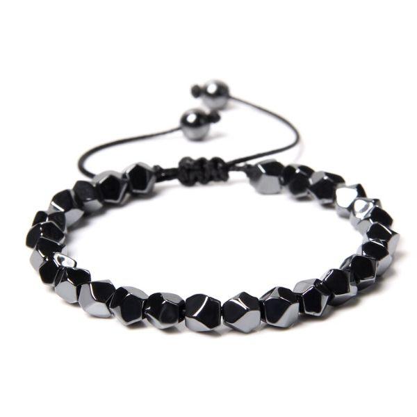 bracelet en pierre d'hematite pour homme
