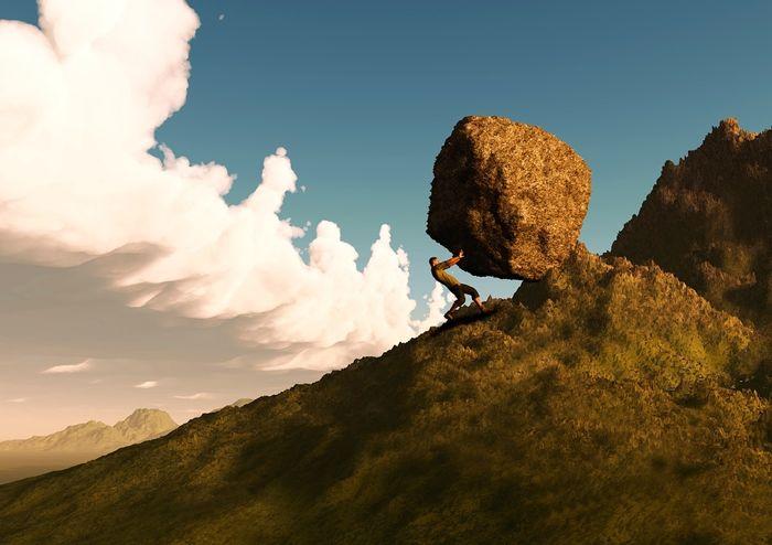perseverance pierre dans la montagne
