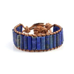 Bracelet Lapis Lazuli en cuir