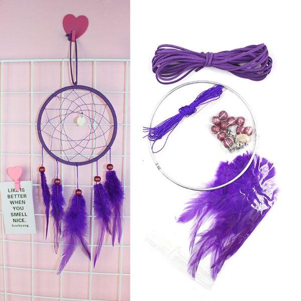 kit de fabrication attrape reve violet douceur et delicatesse