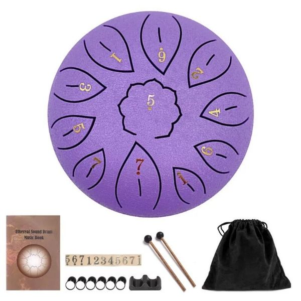 tambour chamanique violet