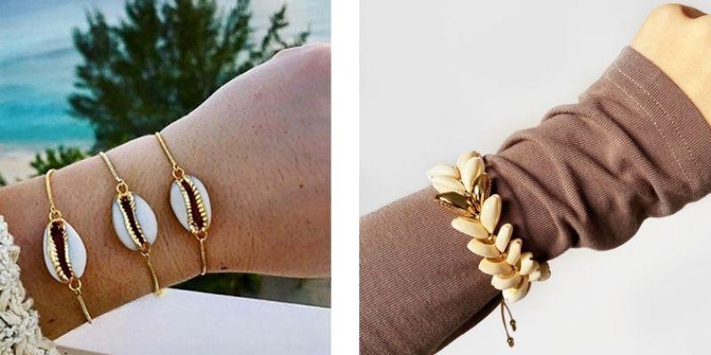 bracelet en coquillage