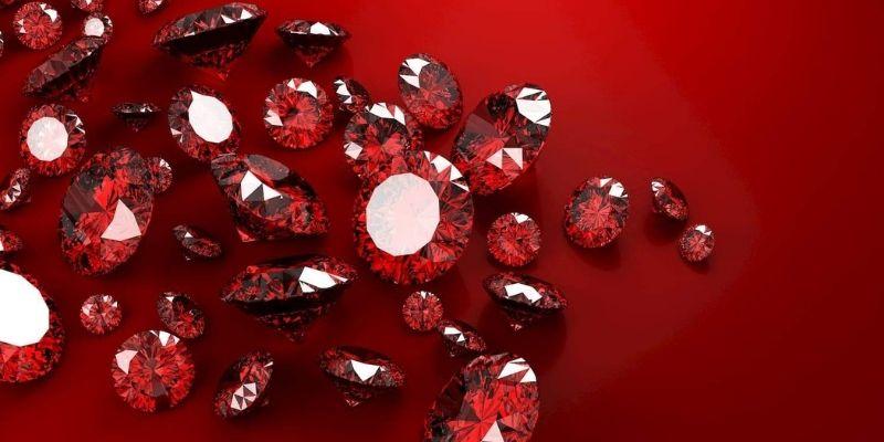 pierre naturelle rouge sang