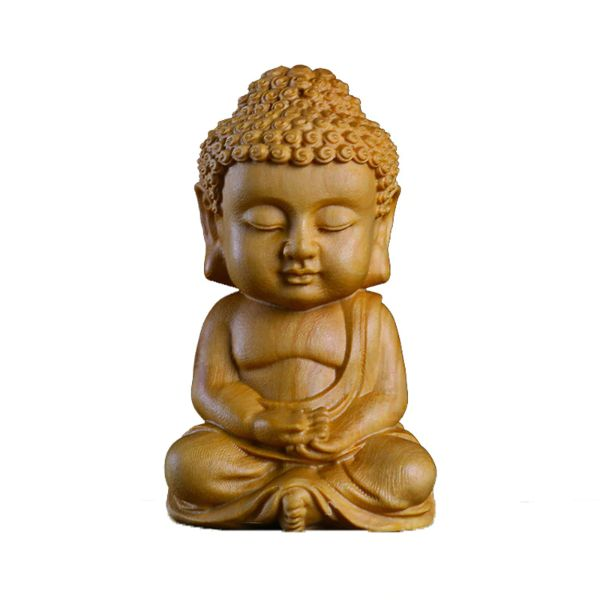 statue bouddha en bois