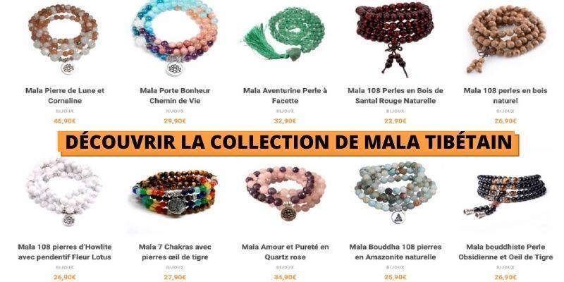 voir la collection de mala tibétain