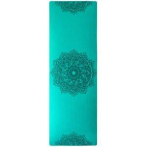 Tapis de Yoga Turquoise Fleur de Lotus
