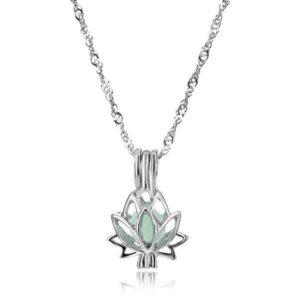colier fleur de lotus lumineux