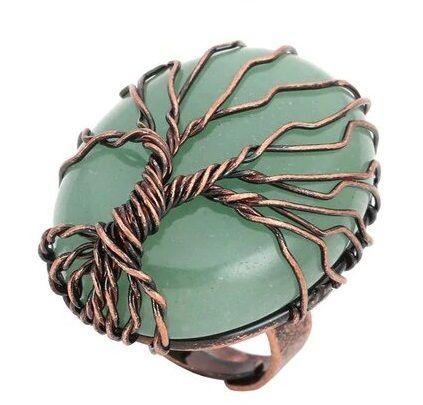 bague aventurine verte arbre de vie
