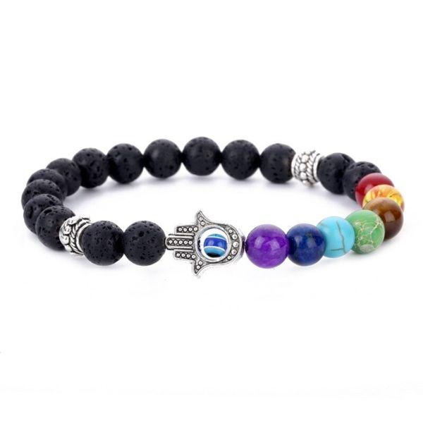 bracelet main de fatma 7 chakras