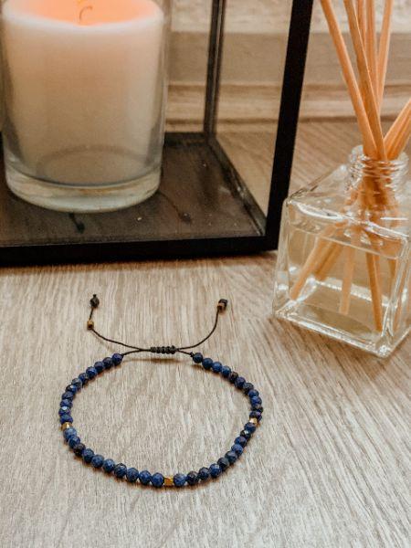 bracelet tibetain en lapis lazuli