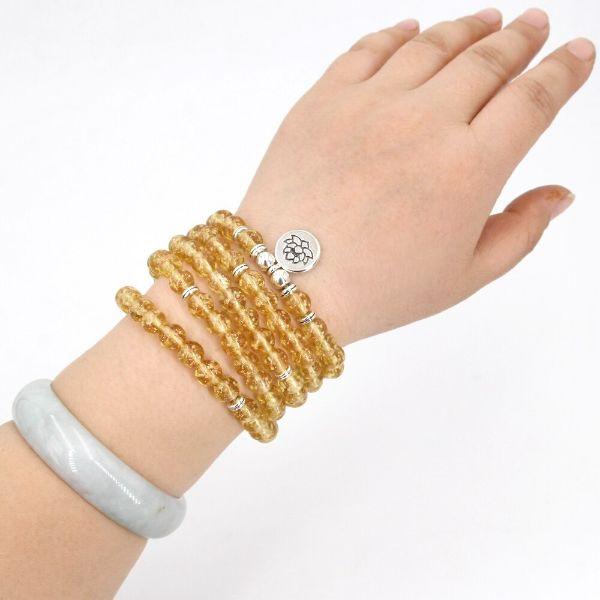bracelet en pierre de citrine veritable