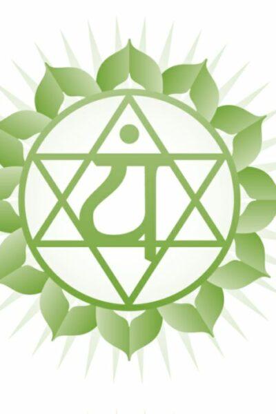 symbole chakras coeur vert