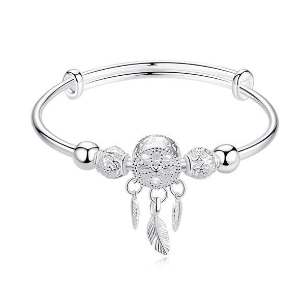 Bracelet Attrape Rêve en Argent