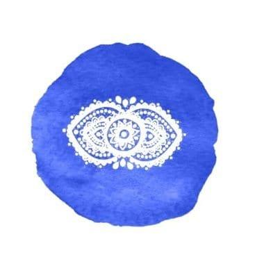 Représentation de couleur indigo pour le troisième oeil