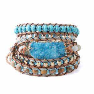 Bracelet Manchette </br> Pierre Turquoise