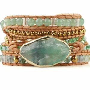 Bracelet Manchette </br> Pierre d'Aventurine