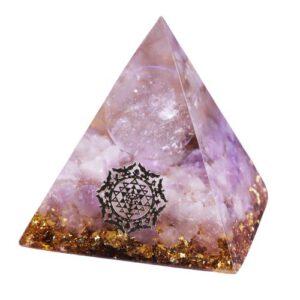 Pyramide Orgonite  Sphère de Cristal