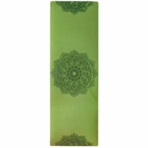 Tapis de Yoga Vert Fleur de Lotus