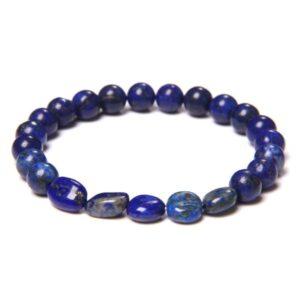 Bracelet Lapis Lazuli </br> Pierre Roulée