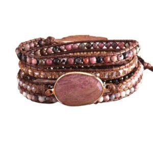 Bracelet Manchette Rhodonite