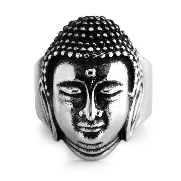 bague bouddha en argent