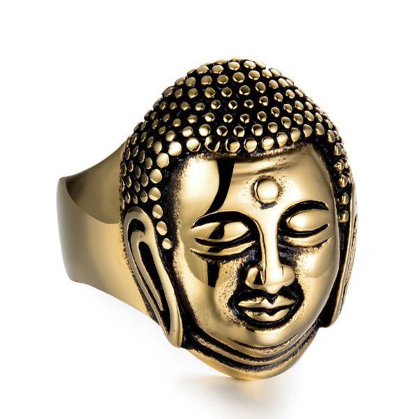 bague avec tete de bouddha