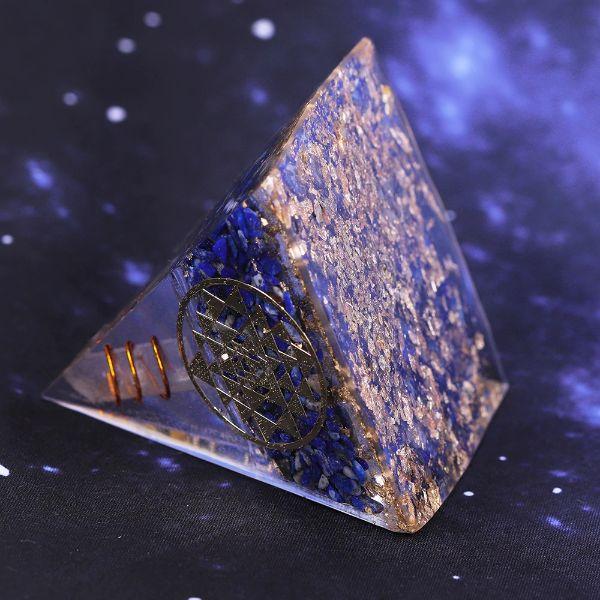 pyramide orgonite lapis lazuli